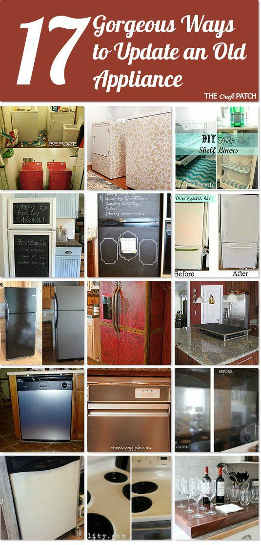17 Gorgeous Ways To Update An Old Appliance ~ If Itu0027s Still Working But  Ugly,