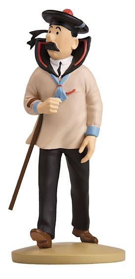 TINTIN FIGURINE NUMERO 36 COLLECTION disponible en France et en Belgique. Référence de la figurine: Dupont Le Trésor de Rackham le Rouge, planche 14, case D3