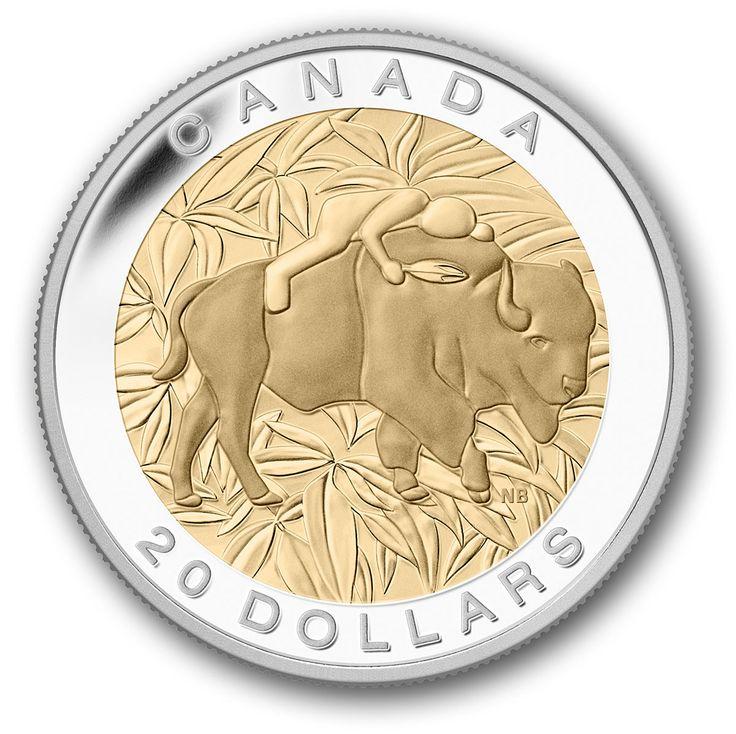 Canada Post - 2014 $20 Pure Silver Coin – The Seven Sacred Teachings – Respect - Buffalo - Coins