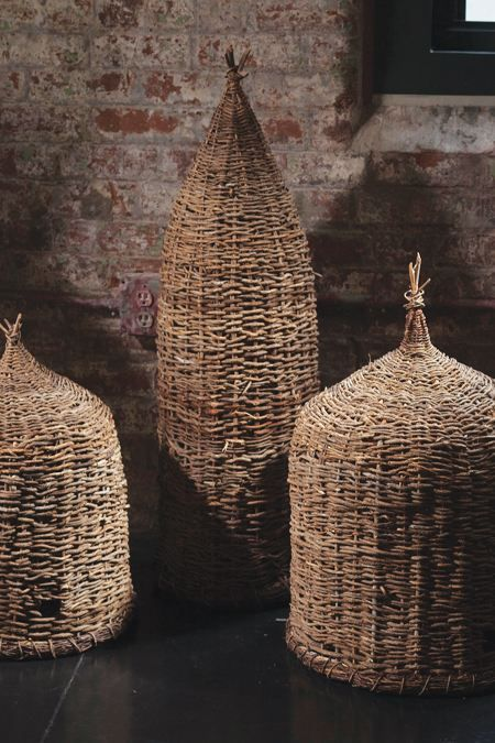 hand woven bee skeps