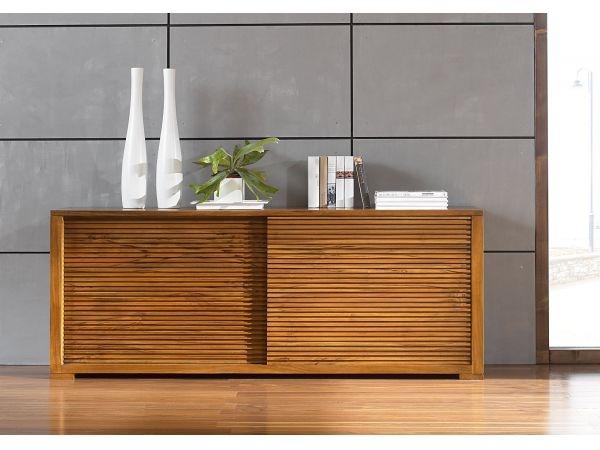 sideboard sondra 2schiebet r 180x70x45 teak bild 1. Black Bedroom Furniture Sets. Home Design Ideas