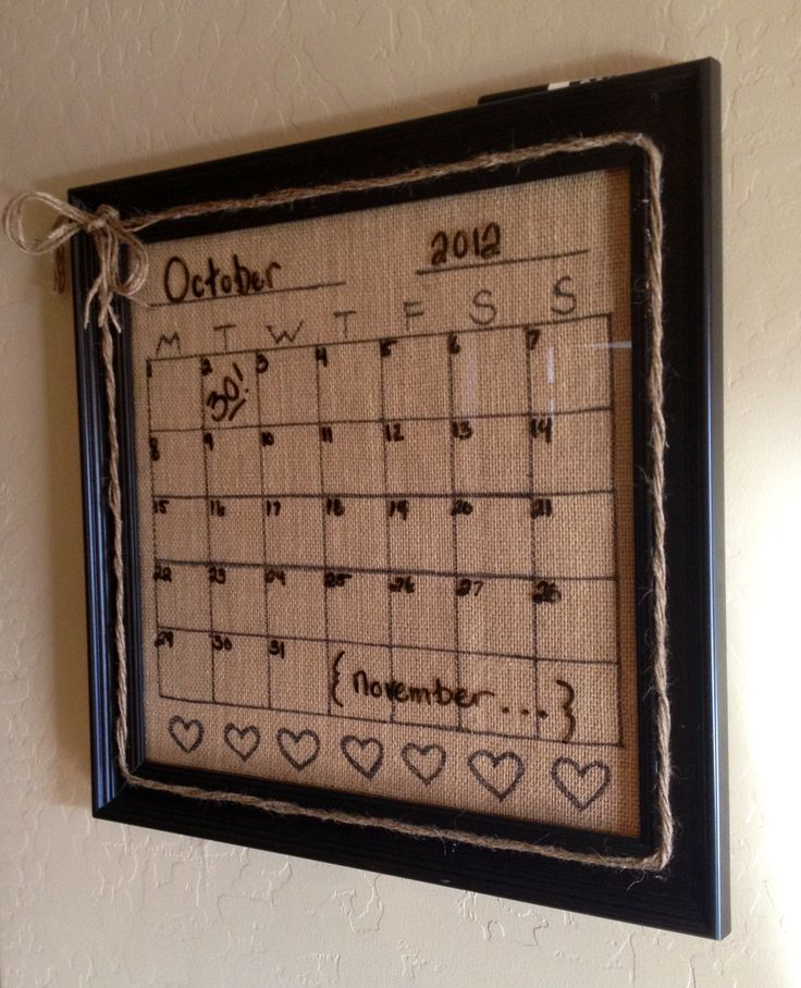 burlap kitchen dry erase calendar i could put burlap behind the one i already have