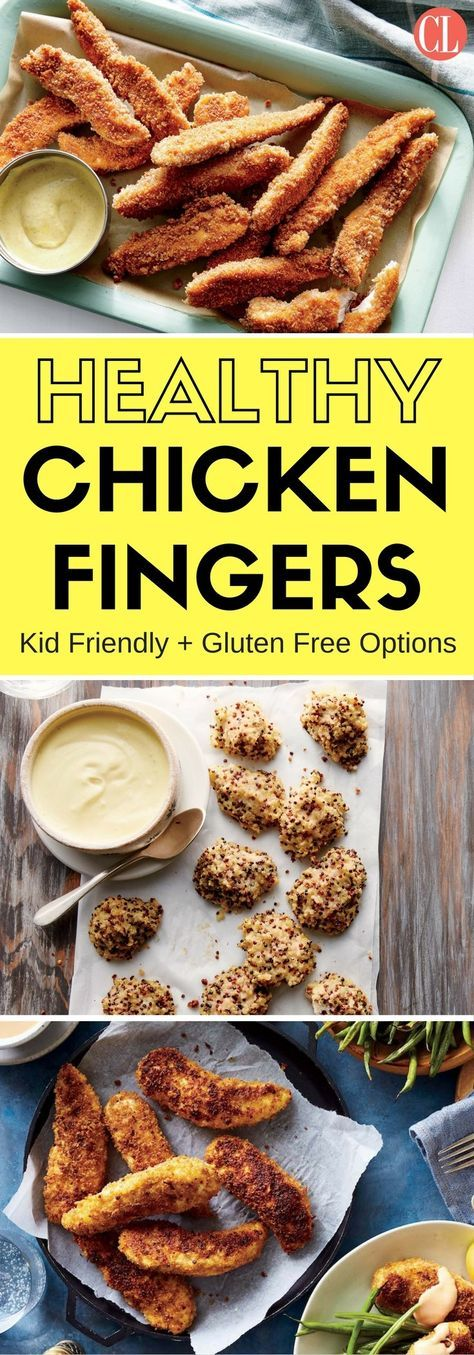 Forget takeout or the frozen variety. Our chicken fingers are easy to make, tender, juicy, and made with ingredients you likely already have at home. Even better, they're lower in sodium and free of questionable ingredients. A universally loved dish, adults and kids alike will enjoy these chicken fingers. | Cooking Light