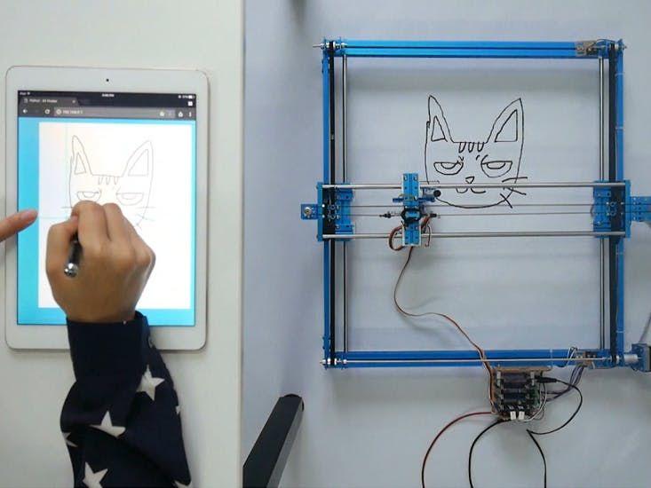 Xy plotter robot drawing via web cnc pinterest