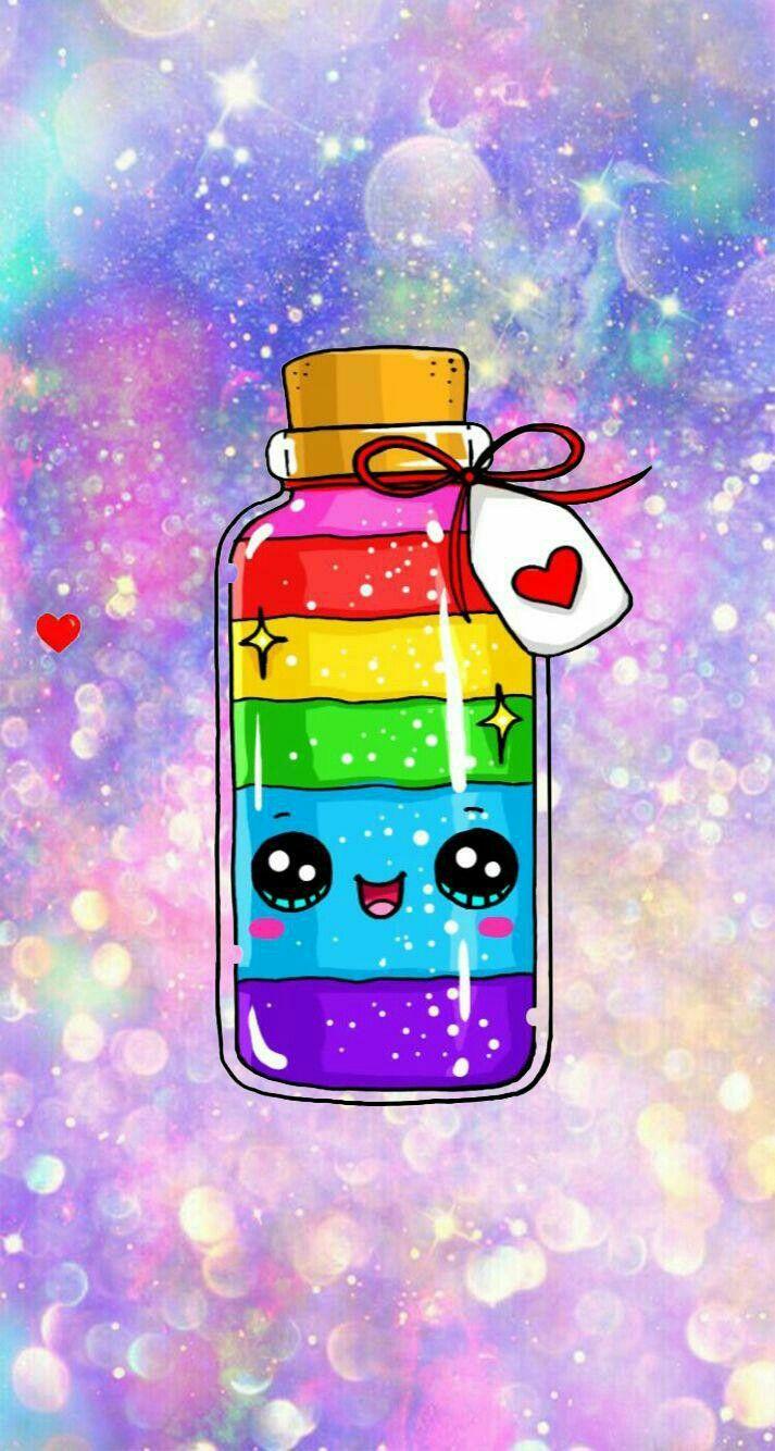 Kawaii Bottle Rainbow Dessin Licorne Kawaii 365 Dessins Kawaii Dessin Kawaii