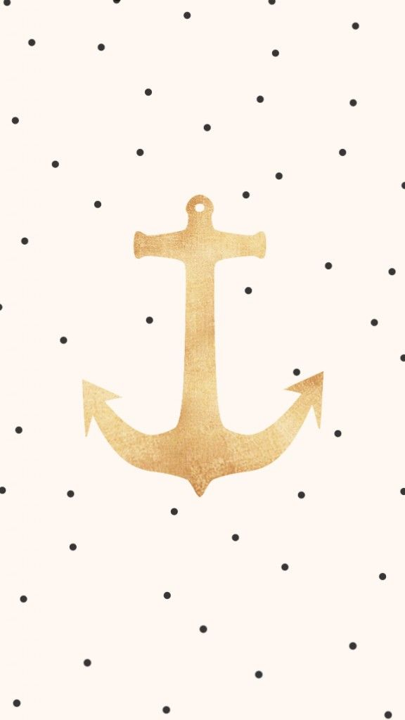 Anchor iPhone wallpaper or print out for baby girl's nursery.(OMG JUST HAD AN EPIPHANY: MY BABIES ROOM THEME WILL BE NAUTICAL ITS IS DECIDED NOW)