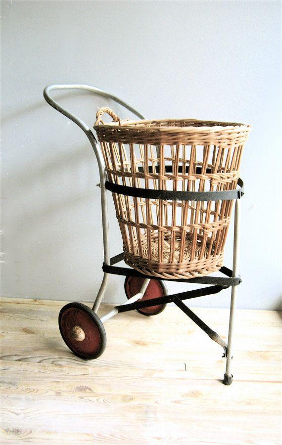 Vintage Basket/Cart by lovintagefinds on Etsy