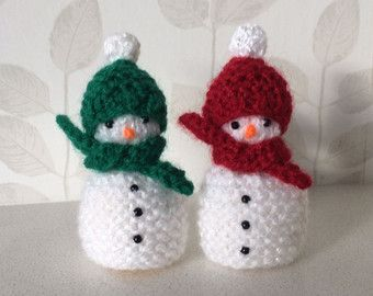 Hand knitted Christmas Pudding covers for ferrero by DaintyButtons