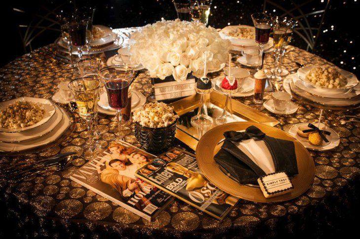 Oscar Themed Party Table Decor