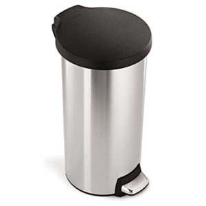 Stainless Steel Small Round Step Trash Can