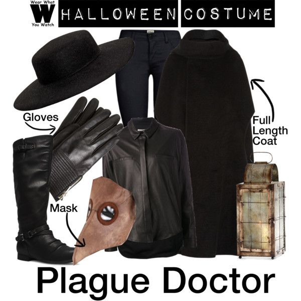 """""""Halloween Costume - Plague Doctor"""" by wearwhatyouwatch on Polyvore"""