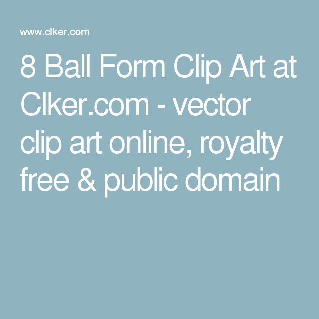 8 Ball Form Clip Art at Clker.com - vector clip art online, royalty free & public domain