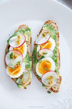 Avocado, Egg, Radish, and French Mustard Toast