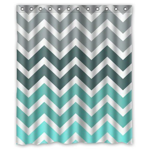 Grey And Turquoise Shower Curtain. Chevron Pattern Turquoise shower curtain 60x72 inch The 25  best curtains ideas on Pinterest