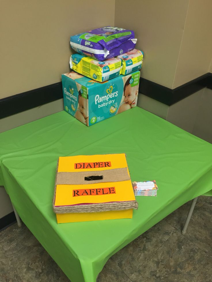 DIY jungle baby shower diaper raffle box
