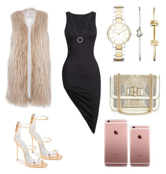 Night out dress by radmany on Polyvore featuring polyvore, fashion, style, River Island, Giuseppe Zanotti, Christian Louboutin, FOSSIL and Michael Kors