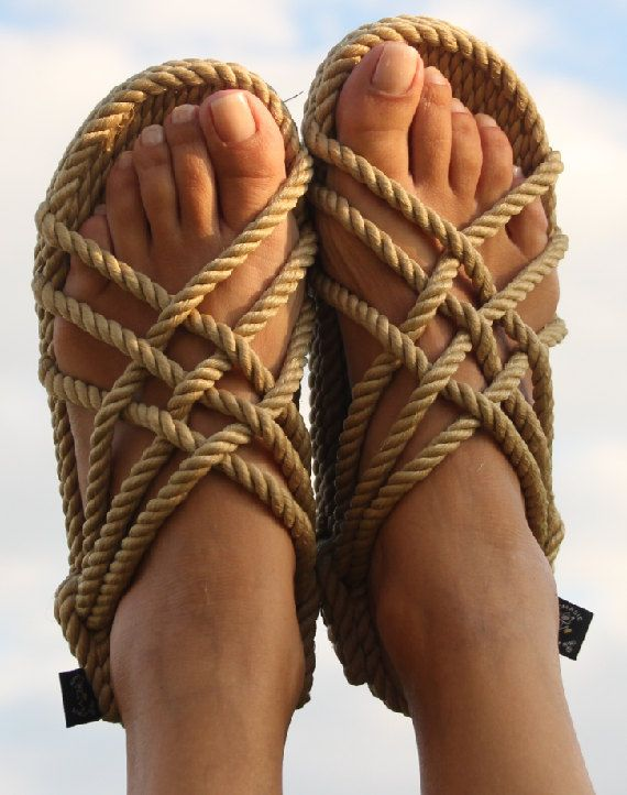 FREE Shipping in USA  Handmade JC Camel Rope Sandals by EarthnSol