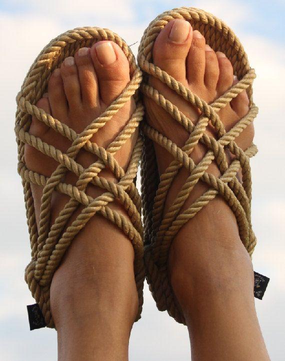Handmade JC Rope Sandals Camel