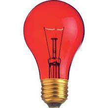 Satco S6080 Transparent Red 25 Watt Party Light Bulb