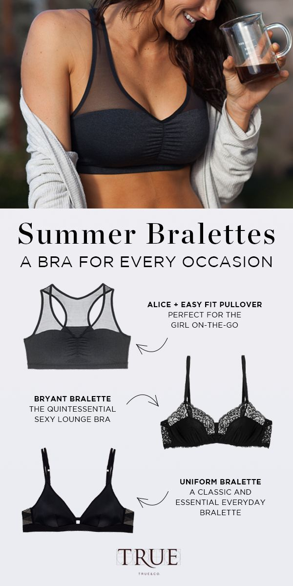 Summer is for dancing in your underwear. And for bralettes. Wirefree, way cute, and dance party-friendly.