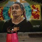 Colectivo Chiquitraca desarrolla el proyecto Ruta artística del Istmo con murales que representan un homenaje a los ancianos de la cultura zapoteca.