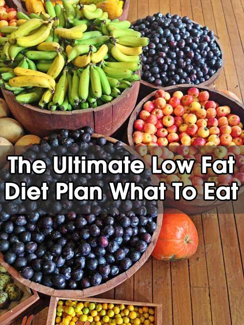 The Ultimate Low Fat Diet Plan – What To Eat?