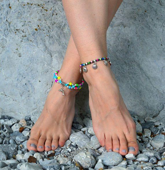 beach anklet boho anklet anklets ankle bracelet womens anklet boho anklet foot jewelry beaded anklet summer anklet  gypsy hippie anklet boho