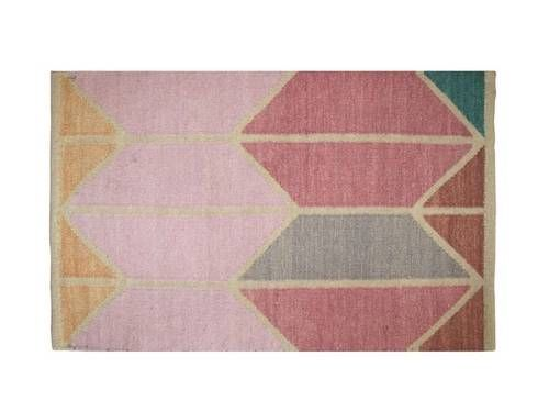Maybe I can paint my giant drop cloth and use as a rug? | Shapes Pink Combo Area Rug from HawkinsNY