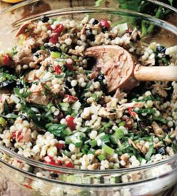 Israeli Couscous and Tuna Salad from Barefoot Contessa FOOLPROOF by Ina Garten