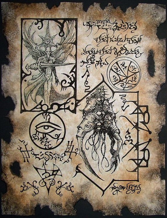Cthulhu Sorcery larp Necronomicon Scrolls dark occult witchcraft magick