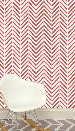 24 « x 48 » déconstruit Herringbone amovible papier carrelage mural - papier peint