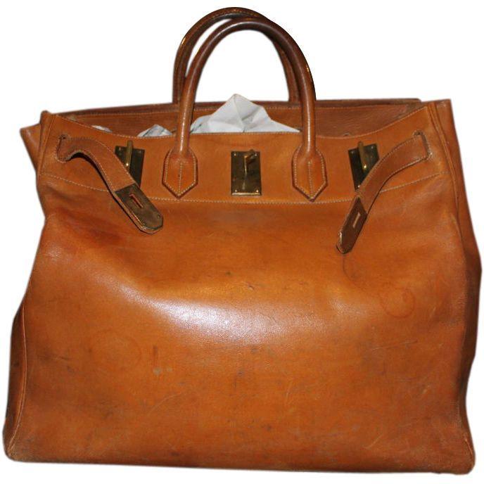 Incredible Hermes Travel Bag France 1960's Beautifully patinated Hermes travel bag