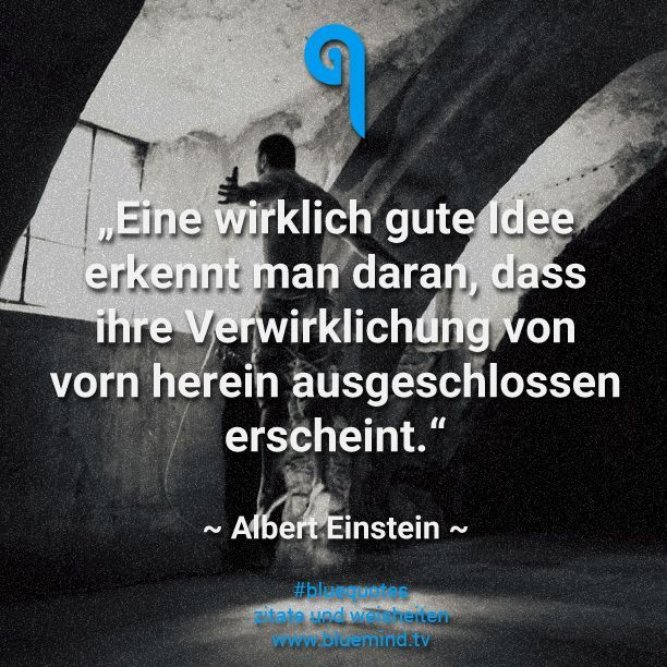 Inspirierendes Zitat von Albert Einstein #bluequotes #zitat #zitate #einstein #quote