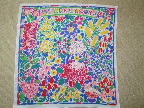 Ken Done Wildflowers scarf - 1985