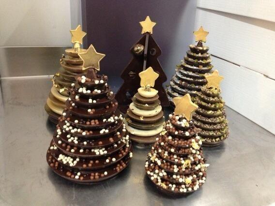 Buona domenica con gli alberi di #Natale di #cioccolato di ...
