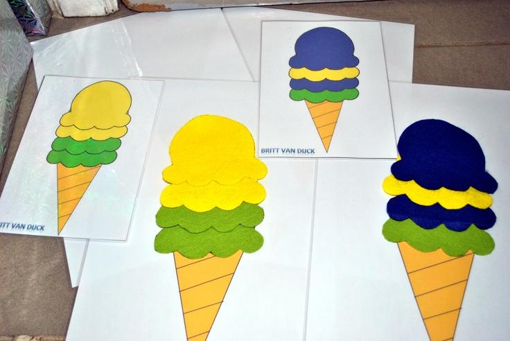 Kleurenspel ijsjes maken