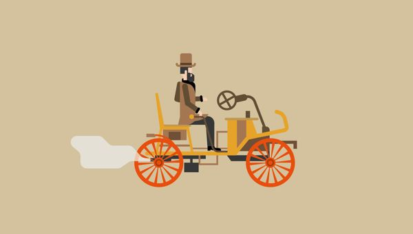 Vintage illustration - London secrets and inventions by The Design Surgery , via Behance