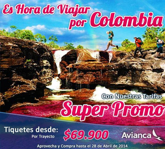 Visita los rincones de Colombia que siempre has querido conocer, aprovechando nuestra Super Promo en tiquetes aéreos a todos los destinos nacionales. Válido con compra hasta el 28 de Abril.  ¡Reserva Ahora! http://aerorutas.com/ #viajes #turismo #travel #colombia