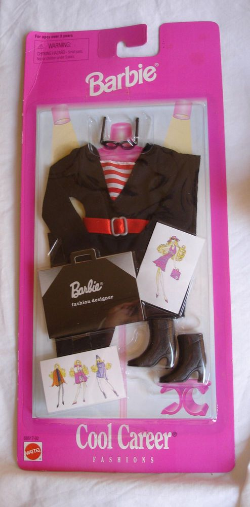 Original Barbie doll clothes Cool Career Fashion Designer new in package #Mattel