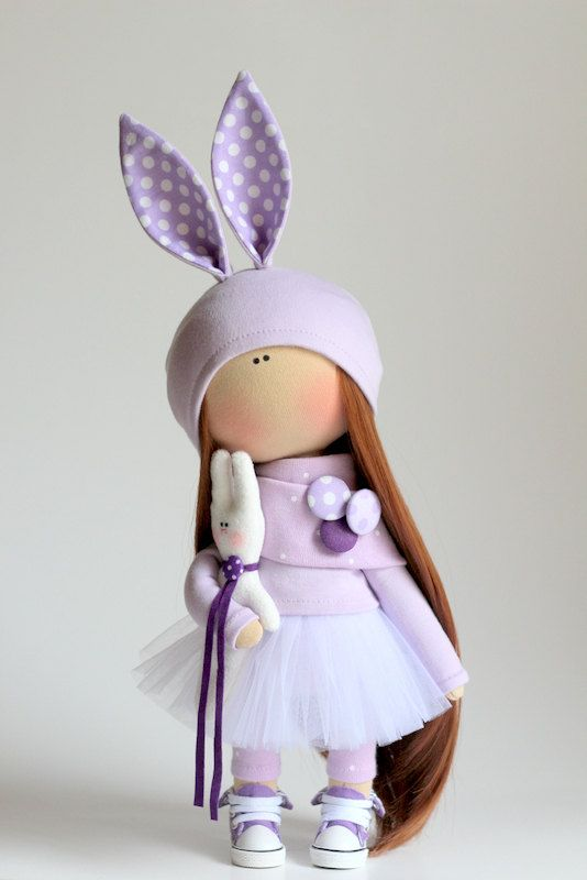 Rabbit doll handmade Cute doll Tilda doll от AnnKirillartPlace