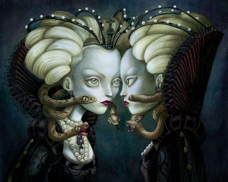 Benjamin Lacombe | artist, illustrator | The Evil Queen | gouache et huiles sur papier , 2010