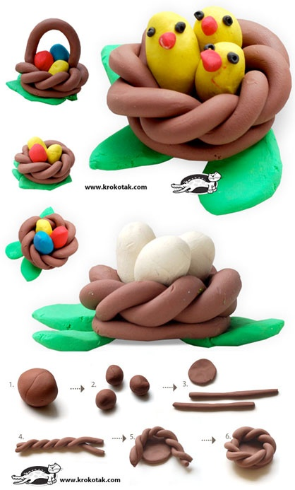 Plasticine NEST and BASKET