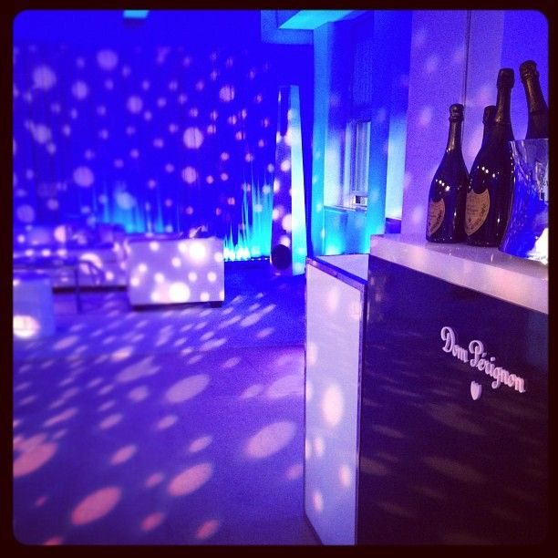 Awesome Gorgeous lighting effects from Levy Lighting in the Dom Perignon lounge at the Empire State Building