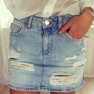 17 Best ideas about Short Jean Skirt on Pinterest | Jean skirts ...