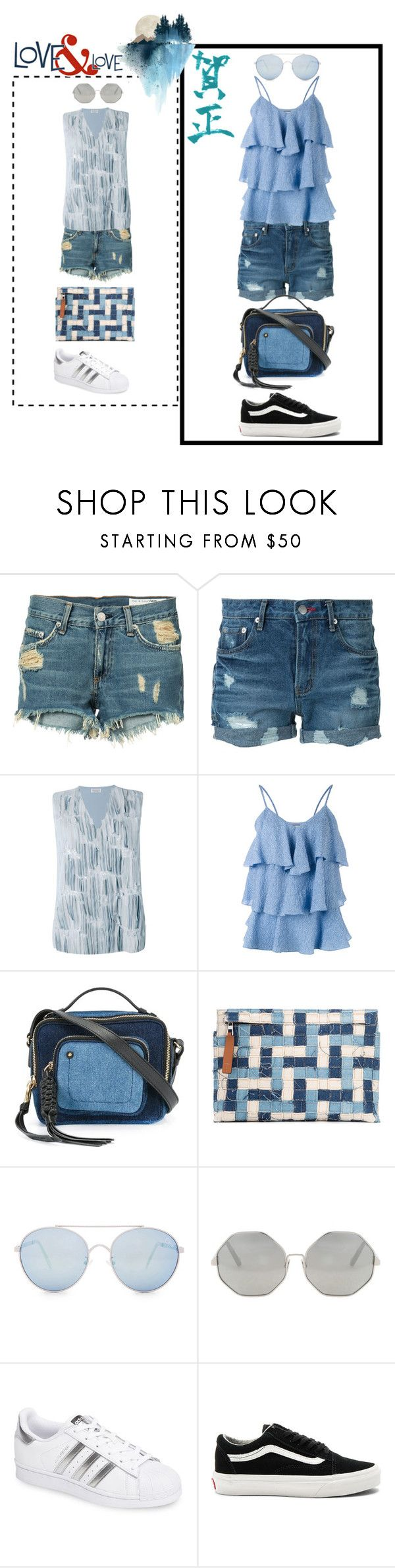 """""""fashion kart¶"""" by racheal-taylor ❤ liked on Polyvore featuring rag & bone/JEAN, Guild Prime, Brunello Cucinelli, Paul & Joe, See by Chloé, Loewe, Quay, Cutler and Gross, adidas and Vans"""