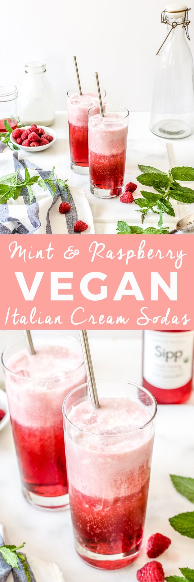 Mint Blackberry Raspberry Vegan Italian Cream Sodas