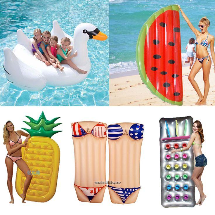 6 Style Gonflable Piscine Flotteur Géant Swan Pastèque Flotteurs Ananas Flamingo Anneau De Natation Enfant et Adulte Eau Jouet boia piscina