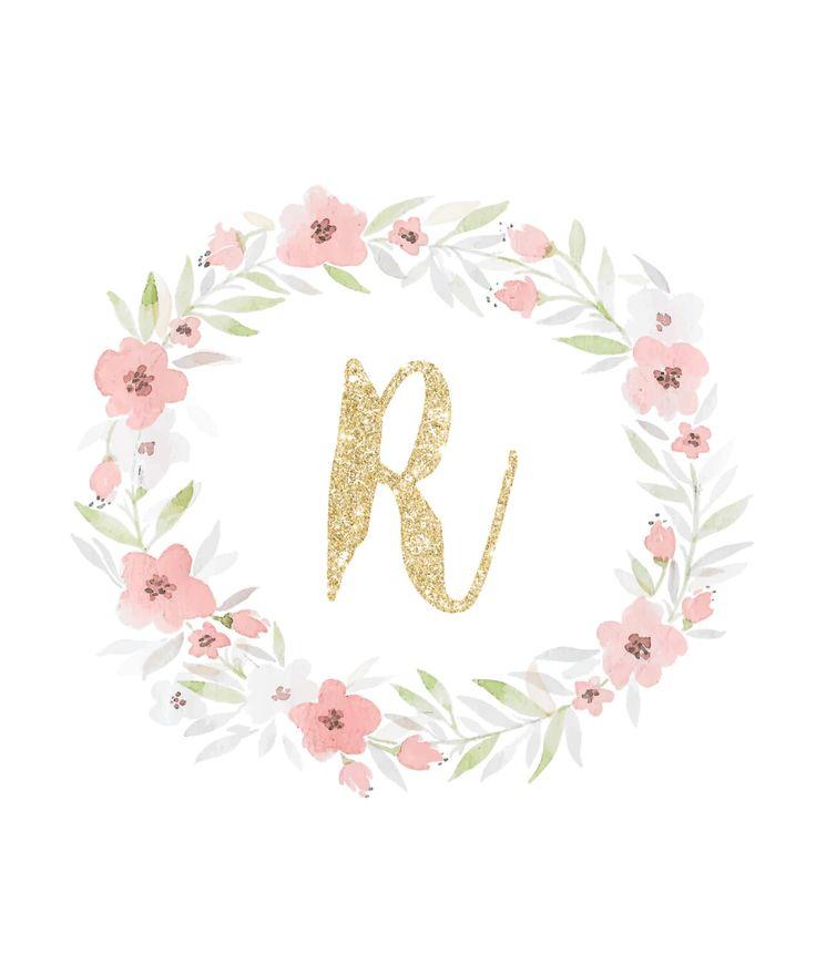 Menampilkan Glitter Initial Wall Art - R.jpg