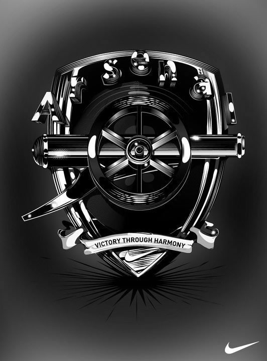 A stylish version of the new crest. I know that it has done so in the past, but I just cannot get used to the cannon pointing to the right
