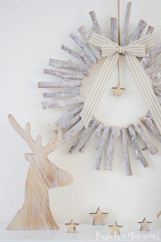 A Simple DIY Wood Christmas Wreath